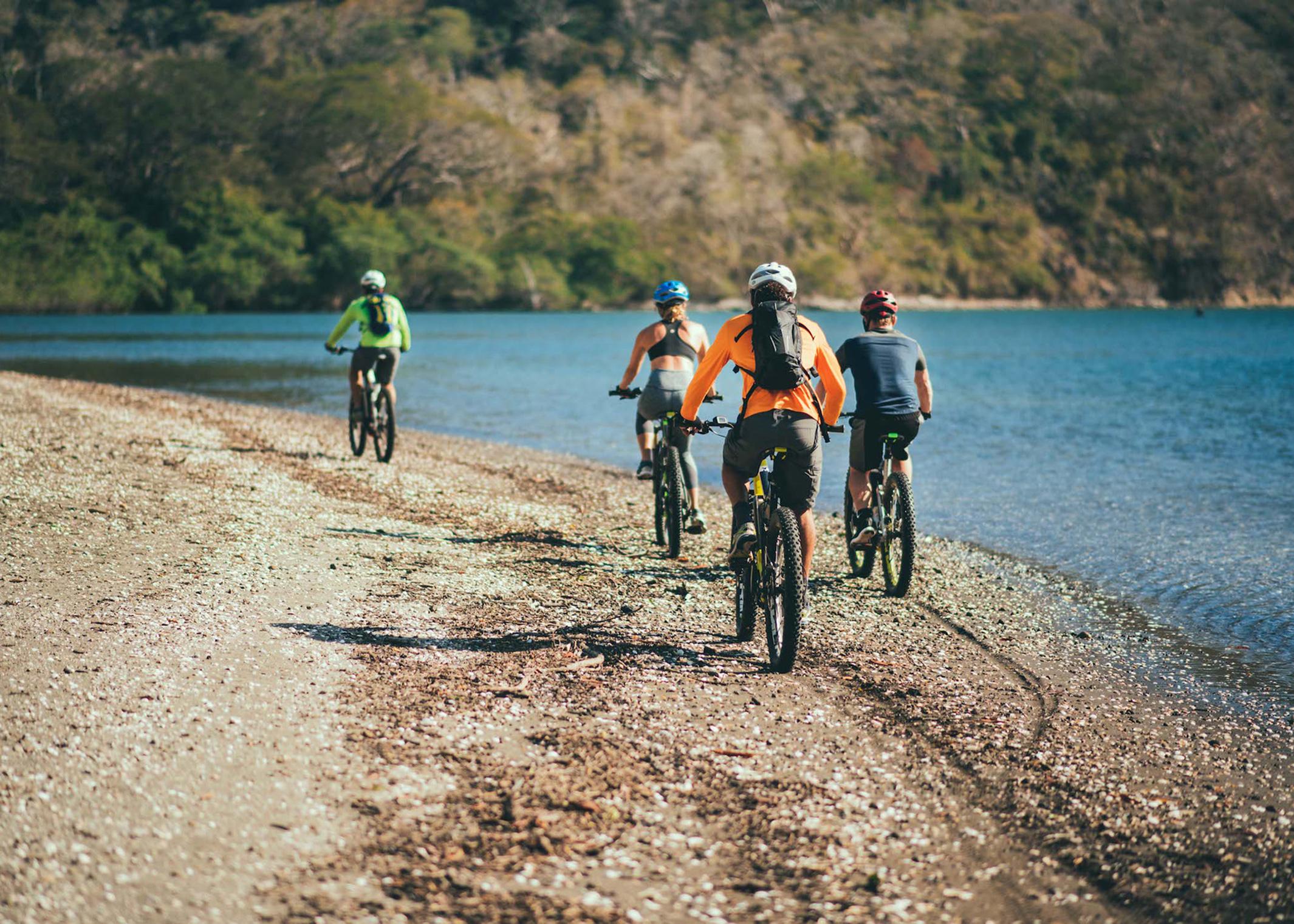 Coastal riding on Playa Palmares.