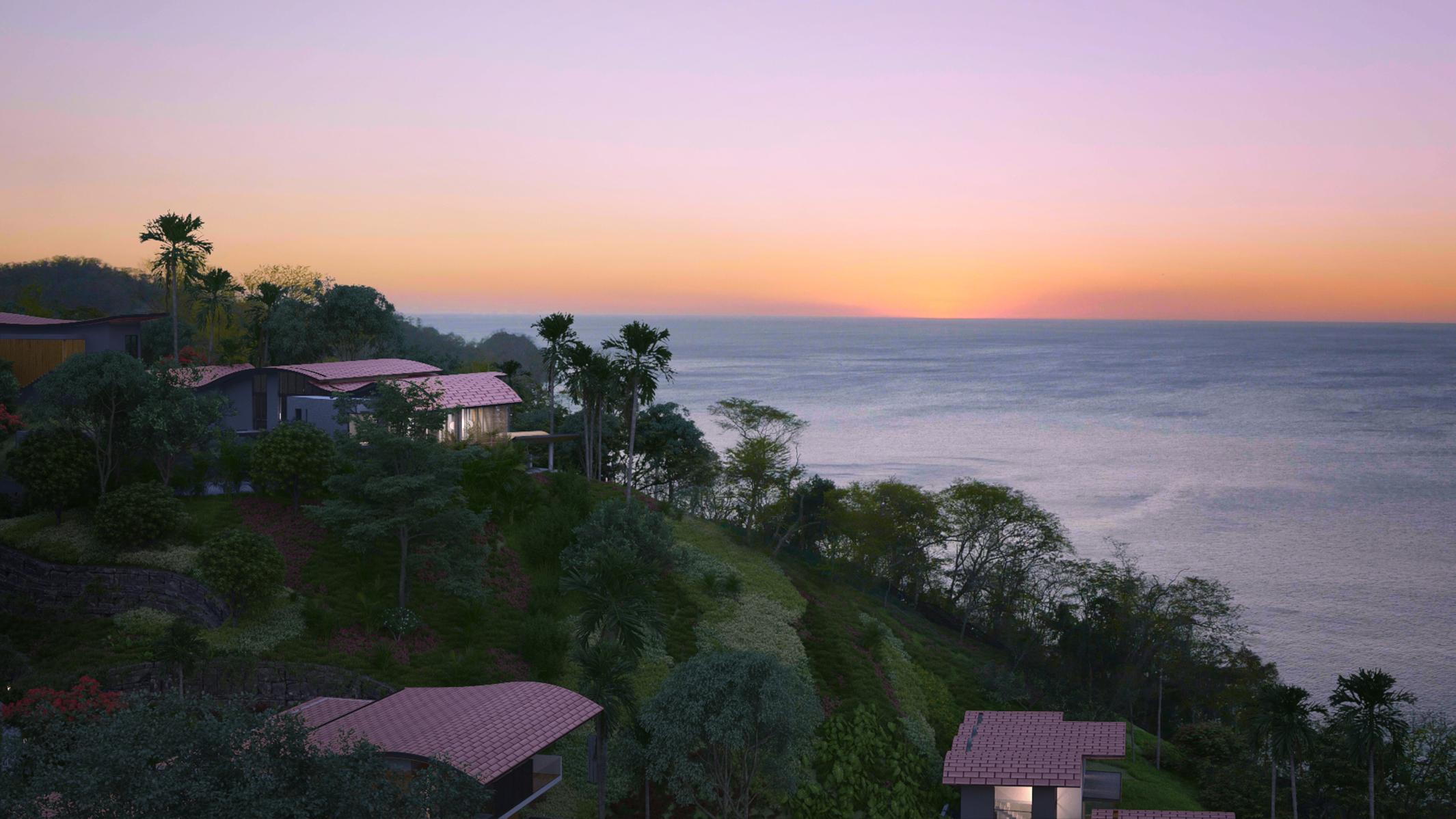Sunset on Prieta Bay.